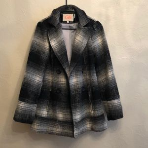 GB Black And White Wool Peacoat Size M